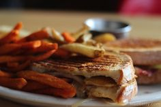Pear & Bacon Grilled Cheese at Kerbey Lane, Austin Texas