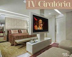 TV giratória – veja ambientes versáteis e integrados com essa novidade!
