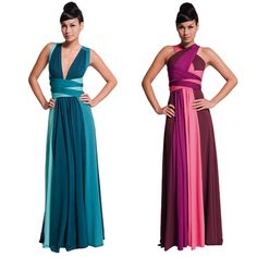 hannah gown, teal or magenta
