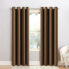 Blc Brown Chocloate Blackout Window Panels 52 W X 63 L Ebay
