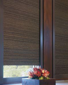 Hunter Douglas Designer Roller Shades and Window Shadings #Hunter_Douglas #Designer #Roller_Shades #Blockout_System #Media_Room