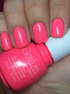 China Glaze Gelaze in Shocking Pink photo by miszgenevieve from purseblog I love love love this pink! It's almost a coral!