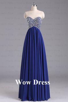 Royal Blue Evening Dress/ Long Evening Dress/ bridesmaids dress