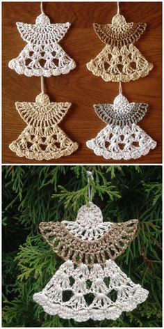 You'll love these Crochet Christmas Ornaments Patterns and we have loads for you to choose from. Check out all the great ideas now. Crochet Ornament Patterns, Crochet Snowflake Pattern, Christmas Crochet Patterns, Holiday Crochet, Crochet Snowflakes, Crochet Christmas Decorations, Crochet Christmas Ornaments, Christmas Crafts, Christmas Christmas