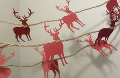 Reindeer Paper Garland // Christmas Garland // by TheDecorBoutique