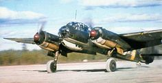 Nice shot a finnish JU-88, showing the painting scheme. WWII ~ BFD