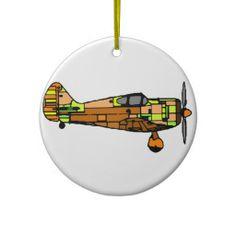 airplane christmas ornaments