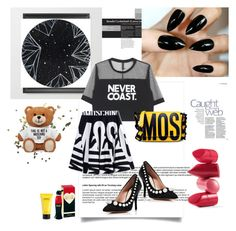 """""""MOSCHINO"""" by una21una ❤ liked on Polyvore featuring Topshop, Rossetto, Moschino, Marc Jacobs and Boutique Moschino"""