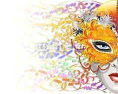 Maschera Carnevale di Piume-Feathers Carnival Mask