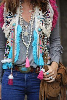 Boho Chic Stil Tipps und Lösungen, um modisch zu sein - Another! Hippie Style, Hippie Mode, Moda Hippie, Mode Boho, Gypsy Style, Bohemian Style, Boho Outfits, Casual Outfits, Fashion Outfits
