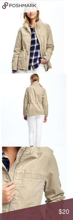 Old Navy Winter Reeds Field Jacket Slightly fitted. Very light jacket. Jacket hits below waist. A wardrobe staple! Old Navy Jackets & Coats Utility Jackets