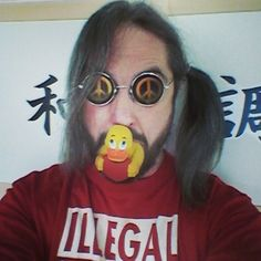 #Duck #Face ;) (2016-04-09)  #DuckFace #Selfie #Photo #Parody #Parodie #RubberDuck #Gummiente #Badeente #Quietscheente #Ente #Heart #Herz #Sunglasses #Sonnenbrille #PeaceSymbol #CNDsymbol #Eyewear by detlef.krueger59