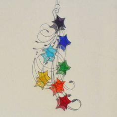 Chakra Glasmalerei Stern Suncatcher Sternen von RavensStainedGlass