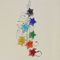 Chakra Stained Glass Star Suncatcher Stars & by RavensStainedGlass, £27.00