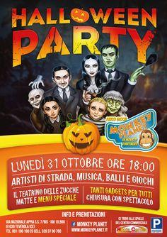 Halloween Party 31 Ottobre 2016 Al Monkey Planet Teverola