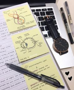 WEBSTA @ studeying - Dodgy diagrams for psych  ft. my new watch from @danielwellington