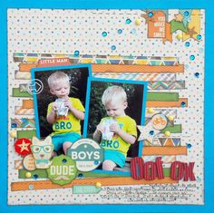 oof ox - Scrapbook.com - Jillibean Soup's Cool As A Cucumber collection is perfect for boy layouts!