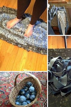 Check out the tutorial: #DIY Braided Rug from Old Jeans #crafts #homedecor