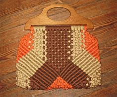 I LOVE THIS BAG!!    1970's Geometric Macrame Hand Bag by SweetGladysVintage on Etsy, $30.00