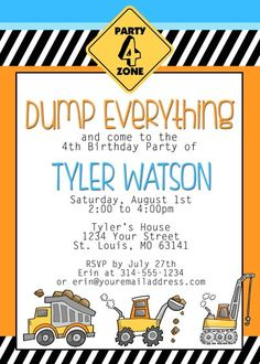 Construction Themed Birthday Party with FREE Printables