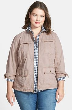 Free shipping and returns on Caslon® Front Zip Utility Jacket (Plus Size) at Nordstrom.com. A quartet of pockets adds utility appeal to a stand-collar jacket cut from rugged cotton twill and fashioned for a trim fit.