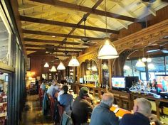 Another fascinating historical feature of the Depot is the 40-foot bar, which was originally part of the luxurious Ten Eyck Hotel in Albany.
