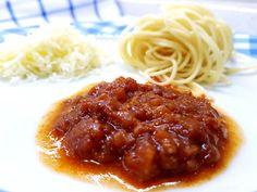 Κόκκινη σάλτσα για μακαρόνια Cookbook Recipes, Cooking Recipes, Spaghetti, Ethnic Recipes, Food, Cooker Recipes, Chef Recipes, Meals, Yemek