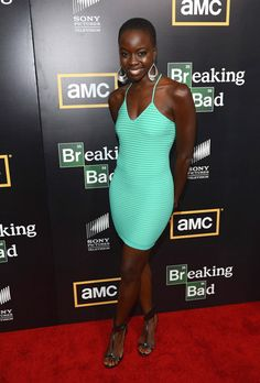 """Danai Gurira>>> Love the color of this dress. Can't wait to see her kick zombie butt in """"The Walking Dead""""."""