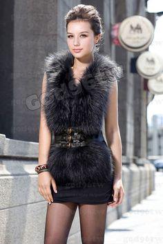 Fabulous black fur vest