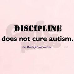 Women's Classic T-Shirt Discipline Autism/Asperger's Women's Light T-Shir by Pocono Parents of Aspies - CafePress Aspergers Autism, Adhd And Autism, Autistic Children, Children With Autism, Autism Quotes, High Functioning Autism, Autism Sensory, Autism Speaks, Sensory Processing Disorder