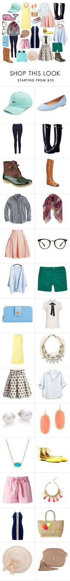 """MAXXAM What to Wear Magazine // Preppy"" by thekendallapproach on Polyvore featuring Vineyard Vines, Elorie, J Brand, Hunter, Sperry, Ralph Lauren, J.Crew, Humble Chic, Rumour London and Ace"