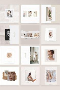 Building Link 190840102947870707 - Source by meurie Instagram Design, Instagram Feed Layout, Feeds Instagram, Instagram Grid, Instagram Post Template, Instagram Story, Instagram Posts, Layout Design, Design De Configuration