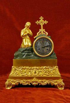 19th Century, Marble, Clock, Bronze, Antiques, Home Decor, Watch, Antiquities, Antique