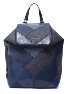 Patchworkrucksack dunkelblau Desigual Ava Loen Navy Lisa, Fashion Days, Mauve, Gym Bag, Backpacks, Bags, Casual, Products, Interior