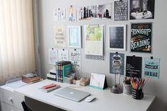 Repaginada no home office (e mural de inspirações) - TEORIA CRIATIVA