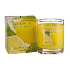 Lemon Verbena Candle by Wax Lyrical Scented Candles, Candle Jars, Wax Lyrical, Verbena, Own Home, Lyrics, Lemon, Tableware, Dinnerware