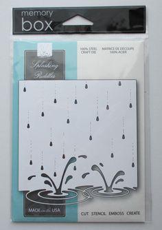 Memory Box Splashing Puddles craft die raindrops splash #memorybox