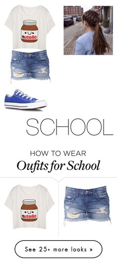 """School"" by katie-2004 on Polyvore featuring Converse"