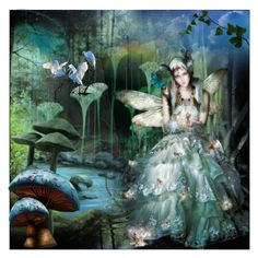 """MYSTICAL FAIRY RING DEEP IN THE FOREST !!!"" by cathiemcnally ❤ liked on Polyvore featuring art"