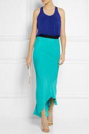 Mason by Michelle MasonJersey and silk maxi dress $495