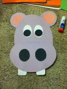 This hippo pattern is part of a set of animals for the 5 classes of animals. It's mouth opens up so you can write facts about hippos or mammals in it! mammals Animal Classification Craftivities, Activities, and Printables Hippo Crafts, Jungle Crafts, Animal Crafts For Kids, Art For Kids, Safari Animal Crafts, Preschool Jungle, Preschool Crafts, Daycare Crafts, Classroom Crafts