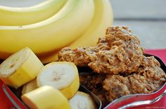 baby food banana cookies- I totally agree with her! Once you start moving to the toddler snacks the ingredients list starts to get scary! This is a GREAT website for homemade toddler recipes!!