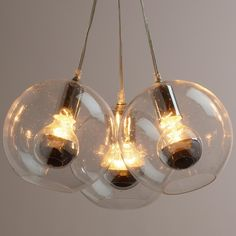 Cost Plus World Market -- Seeded Glass Chrome Cluster Pendant Lamp