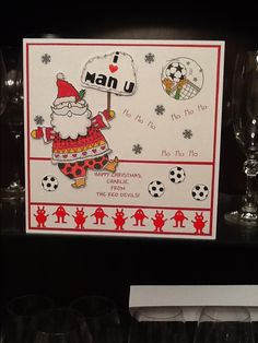 Christmas card for a Manchester United fan.