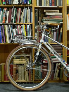 Reminds me of my daughter Aimee!  Vintage peugeot mixte | Bike + Books