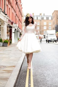 Candy Dress #candydress #elizabethtodd #bridal #wedding #retro #chilternst