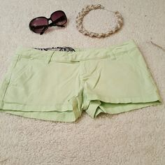 Lime green Volcom shorts Lime green shorts by Volcom. So cute for spring and summer! Perfect condition. Volcom Shorts