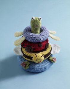 Pond Friends Stacking Toy: FREE crochet pattern