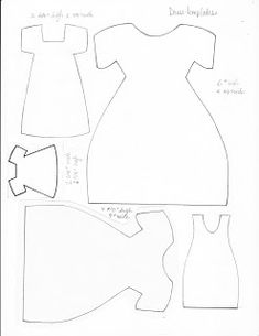Dress templates: Template & Printable Patterns - Splitcoaststampers ~ Can make cards or paper doll dresses Felt Patterns, Card Patterns, Applique Patterns, Sewing Patterns, Felt Crafts, Paper Crafts, Motifs D'appliques, Dress Card, Doll Quilt