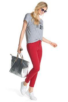 Esprit - Knöchellange coloured Stretch-Jeans im Online Shop kaufen